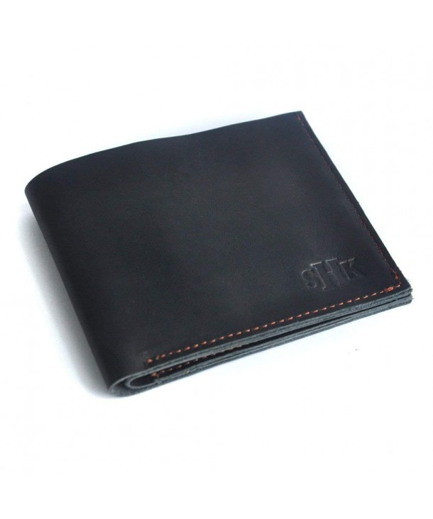 Personalized Wallet Initials Leather Monogrammed