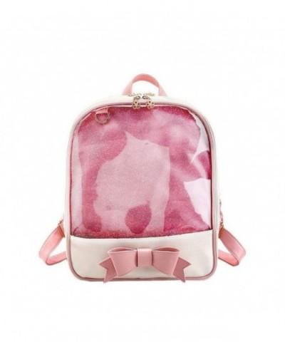 Womens Backpack Transparent Knapsack Bookbag