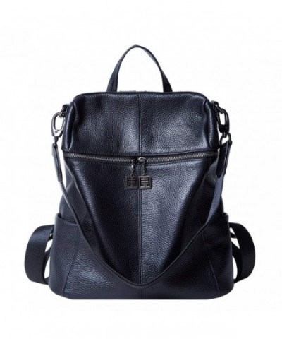 BOYATU Convertible Genuine Backpack Black 02