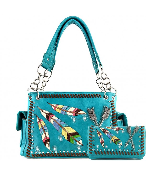 Justin West Feather Turquoise Shoulder