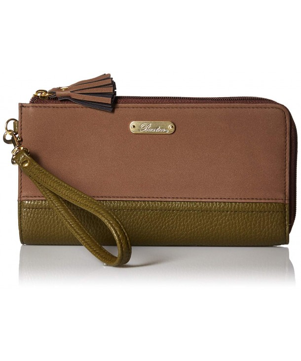 Buxton Double Wallet Clover Coconut