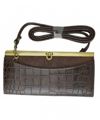 Buxton Crocodile Ladies Closure Shoulder