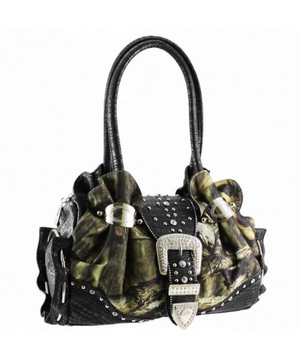 Women Purse Handbag Camouflage Buckle