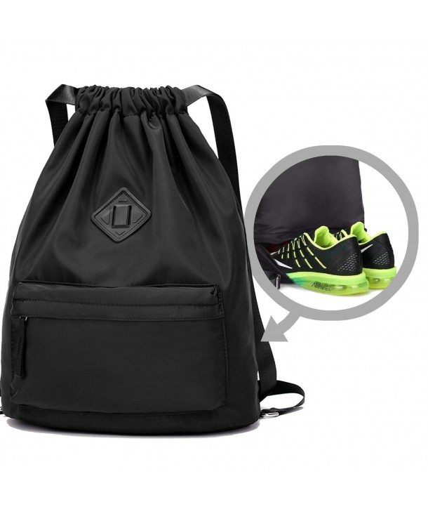 WANDF Drawstring Backpack Compartment Repellent