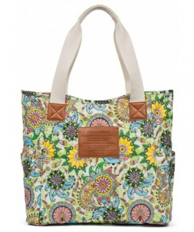 Malirona Canvas Zippered Shoulder Flower