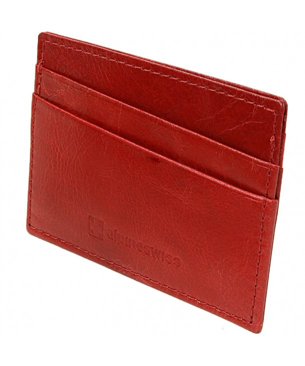 Alpine Swiss Genuine Leather Compact