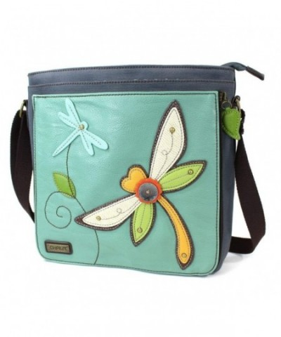Chala Deluxe Messenger Teal Dragonfly