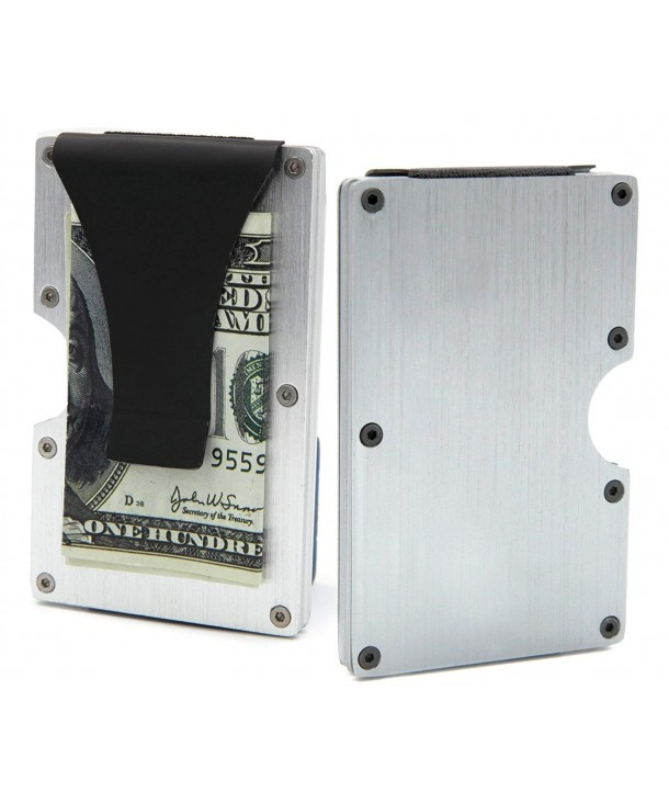 Slim Money Clip Metal RFID Front Pocket Minimalist Aluminum Wallet