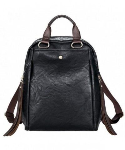 Fashion Backpack Leather Shoulder Rucksack