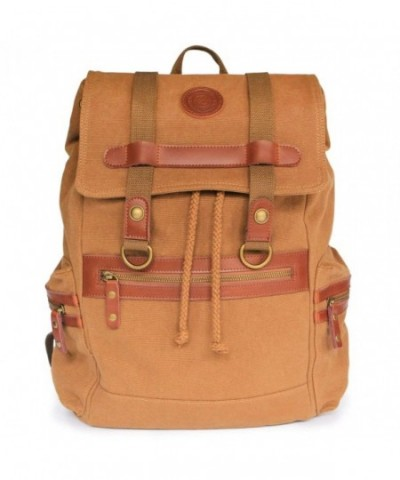 Brown Canvas Backpack CaseElegance Designer