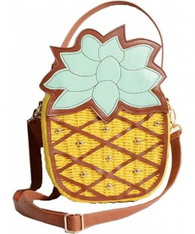 Buenocn pineapple Rattan Plaited Shoulder