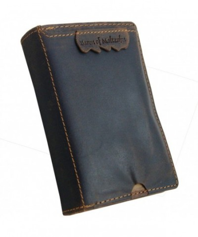 MALTZAHN wallet mobile compartment Western leather