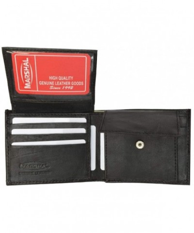 Black Leather Wallet Bifold Pouch