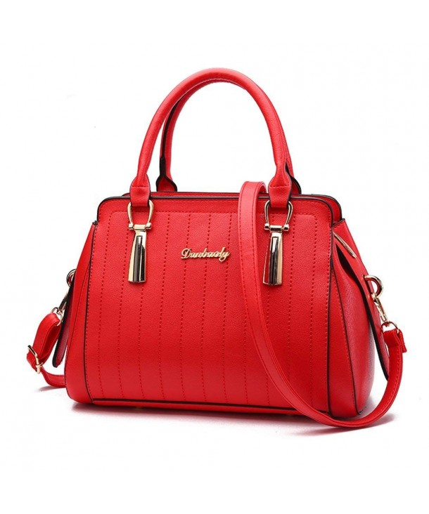 Nevenka Leather Handbags Designer Red