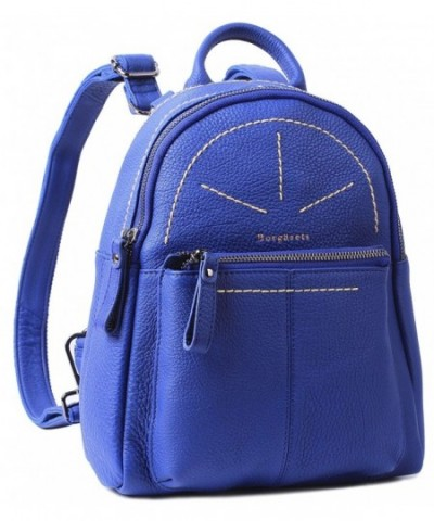 Borgasets Leather Backpack Daypack Multi function