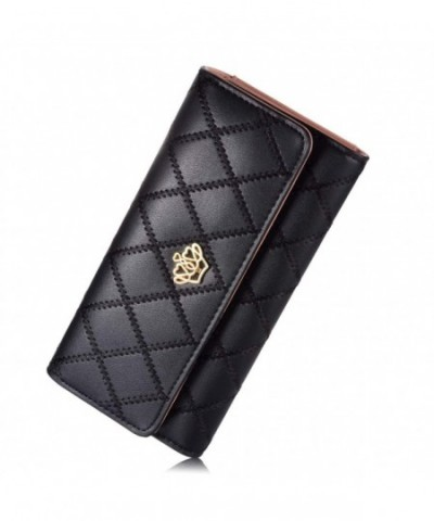 Womens Clutch Leather Holder Wallet
