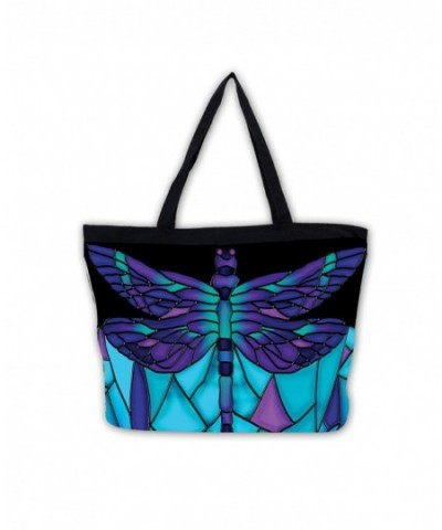 Galleria Stained Glass Dragonfly Tote