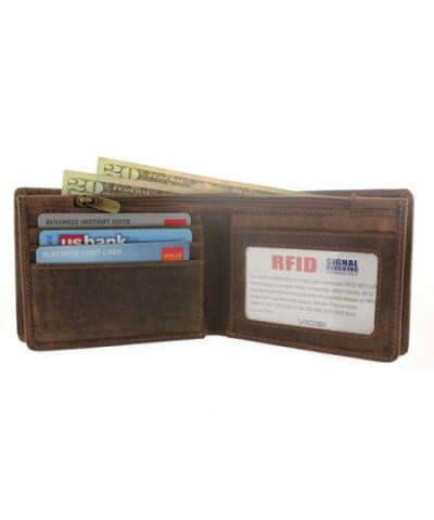 Viosi Leather Billfold Wallet Protection