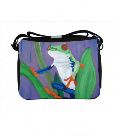 Frog Messenger Bag Painting Kaleidoscope