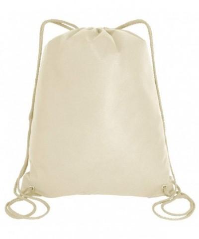 Drawstring Backpacks Non Woven Sportpacks Natural