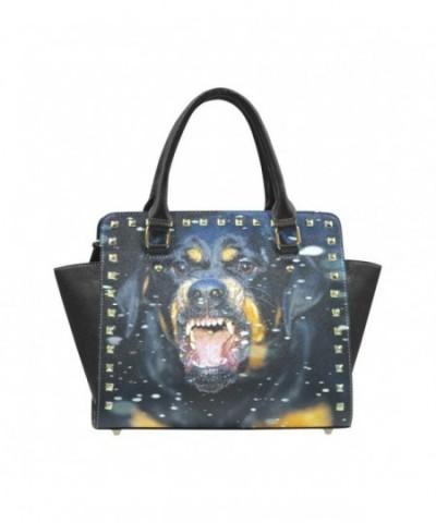 D Story Rottweiler leather Shoulder Handbags