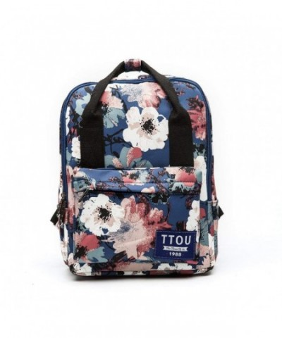 TTOU Womens Printed Canvas Backpack