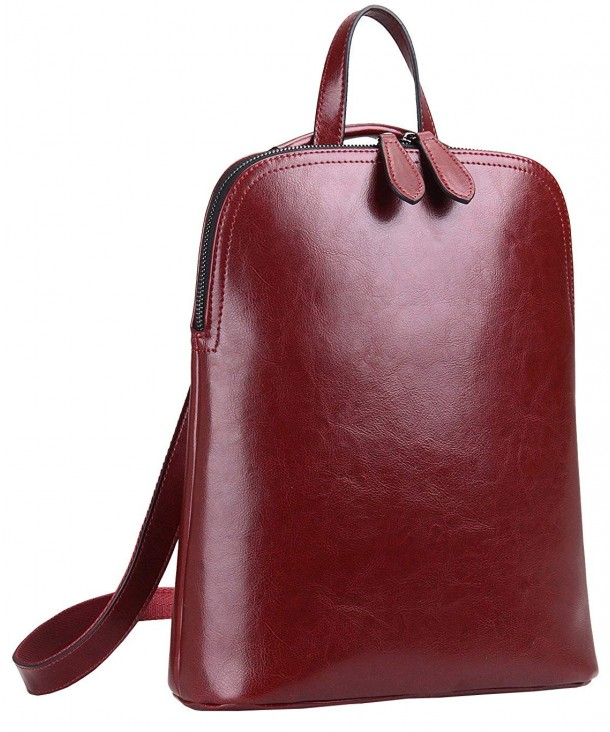 Womens Leather Backpack Casual Daypack