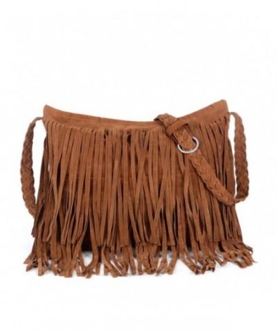 Tassels Shoulder Fringed Leather Handbag