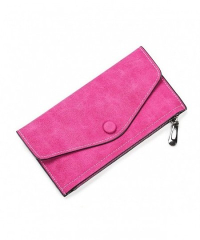 LIZHIGU Womens Envelope Leather RoseRed