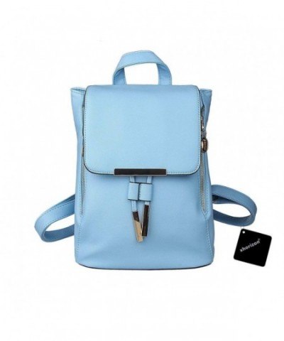 xhorizon Leather Backpack Shoulder Light blue