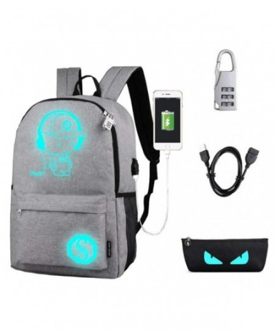 Cartoon Luminous Backpack Rucksack Charging