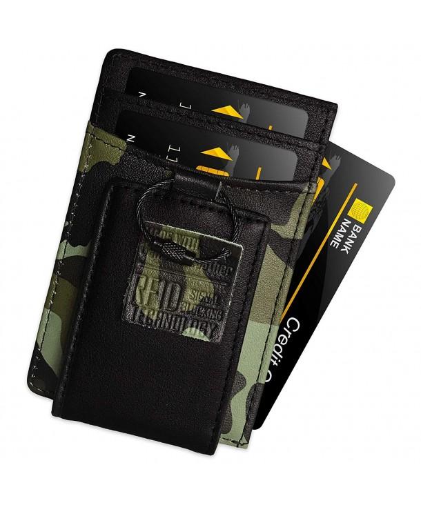 FIDELO Leather RFID Minimalist Wallet