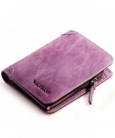 Womens Compact Genuine Leather Bifold