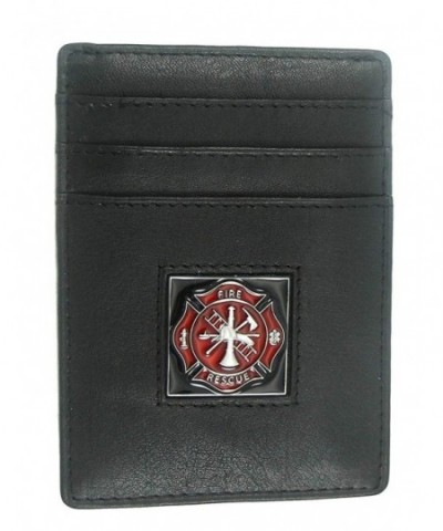 Firefighter Executive Leather Money Cardholder