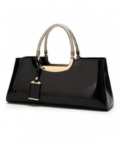 Leather Structured Shoulder Handbag Evening