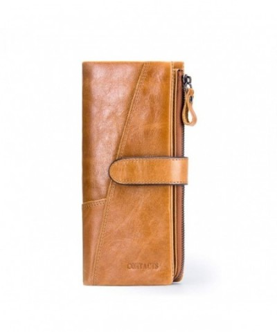 Contacts Genuine Leather Vintage Trifold