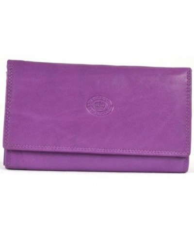 Ladies Leather Flap over Wallet pockets