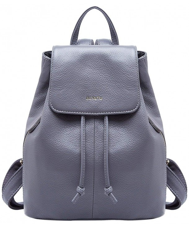 Genuine Leather Backpacks Women Travel