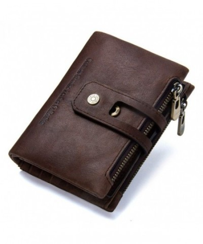 Contacts Genuine Leather Bifold Double