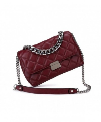 Crossbody Designer Shoulder Handbags Burgundy