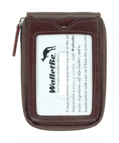WalletBe Zipper Pocket Wallet Whiskey