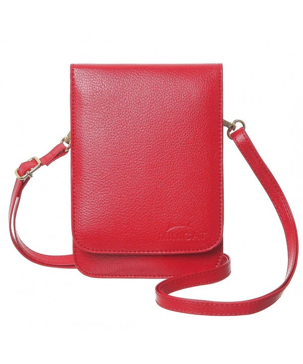 MINICAT Screen Leather Crossbody Red Mirror
