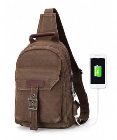 Muzee backpack Crossbody Charging Coffee