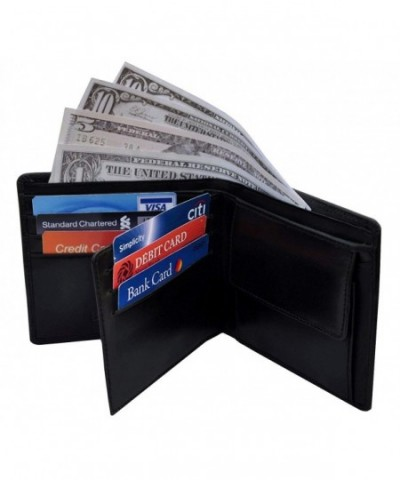 Bdgiant Trifold Bifold Leather ID black