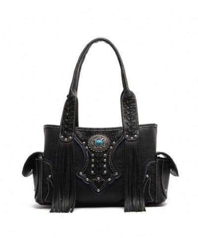 Western Handbag Embossed Concealed Shoulder