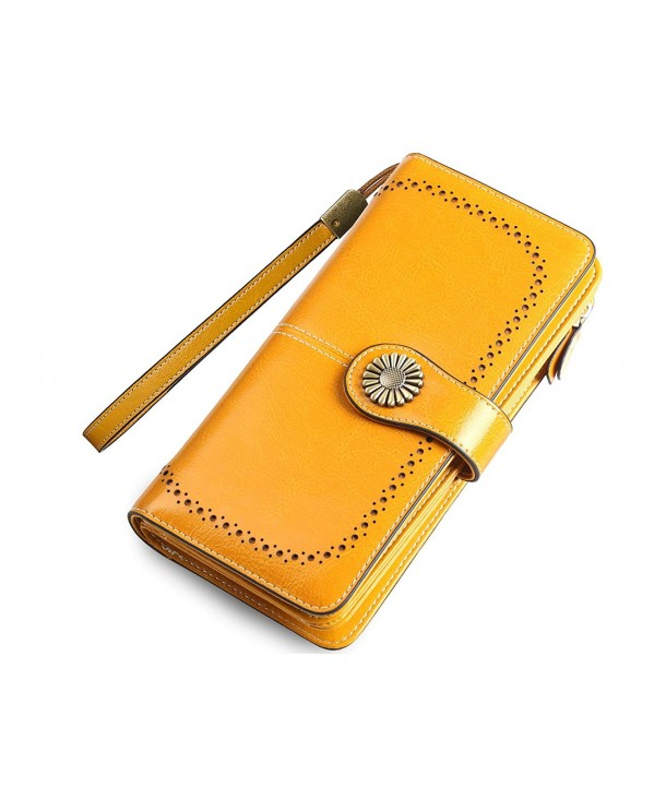 Womens Wallets Leather Clutch Organizer