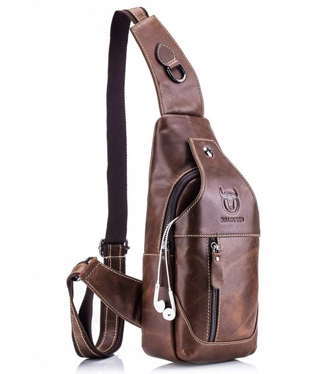 BULLCAPTAIN Genuine Crossbody Shoulder Backpack
