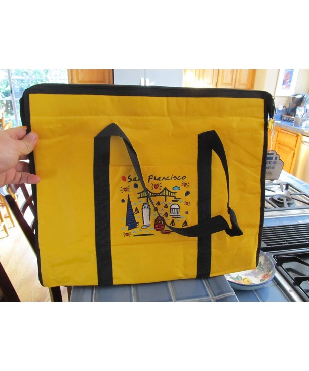 Francisco Embroidered Subway Images Yellow