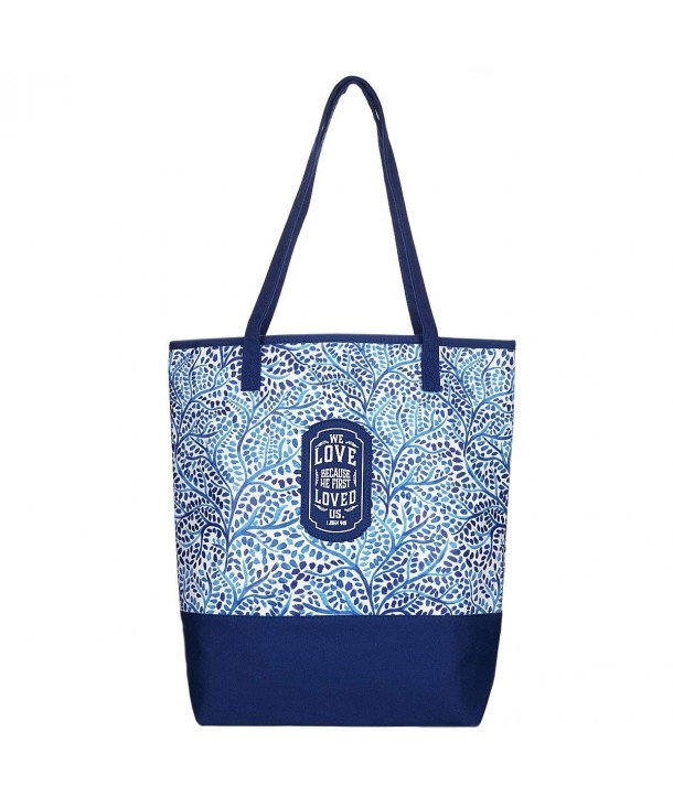 Blue Small Prints Canvas Tote