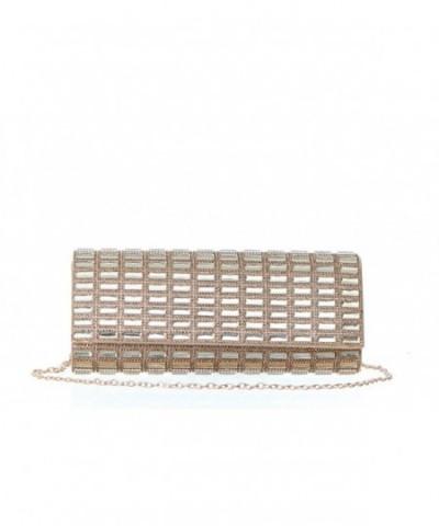 Rectangle Crystal Embellished Evening Handbag